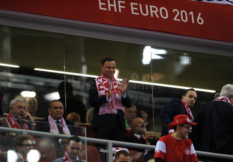 EHF EURO 2016 Frankrijk Macedonië royalty-vrije stock afbeeldingen