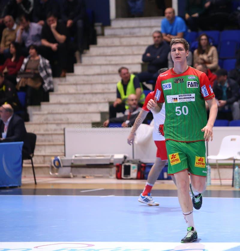 EHF van mensen Kop Dinamo Boekarest - Sc Maagdenburg stock foto