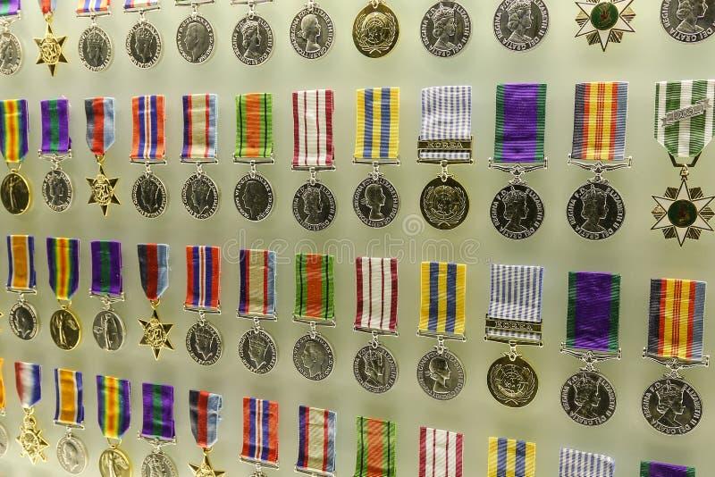 Ehrenmedaillen am Schrein der Erinnerung stockbilder