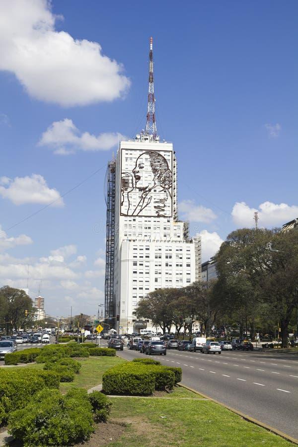 Ehrerbietung zu Evita Peron stockfotografie