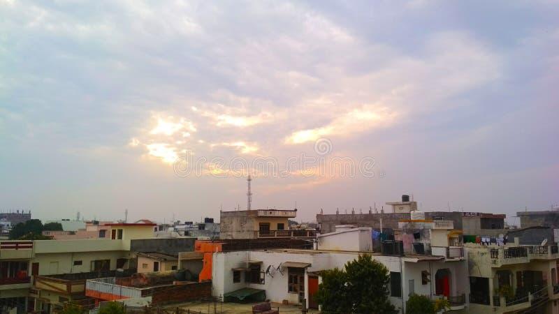 Ehrfürchtig ob von Lucknow stockbild