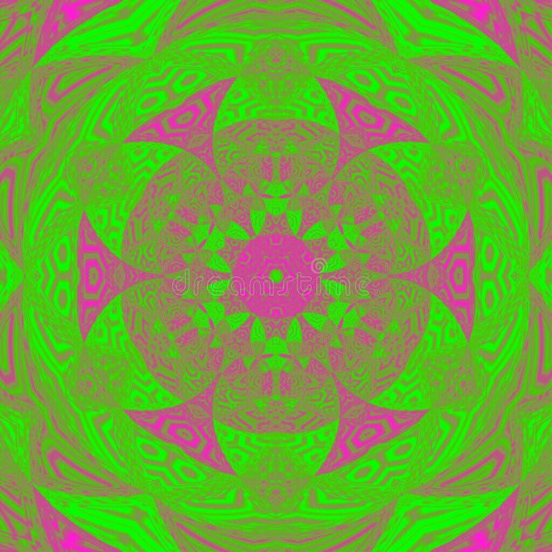 Ehrfürchtige bunte drehen Blume Fractalhintergrund, Frühlingsbild vektor abbildung