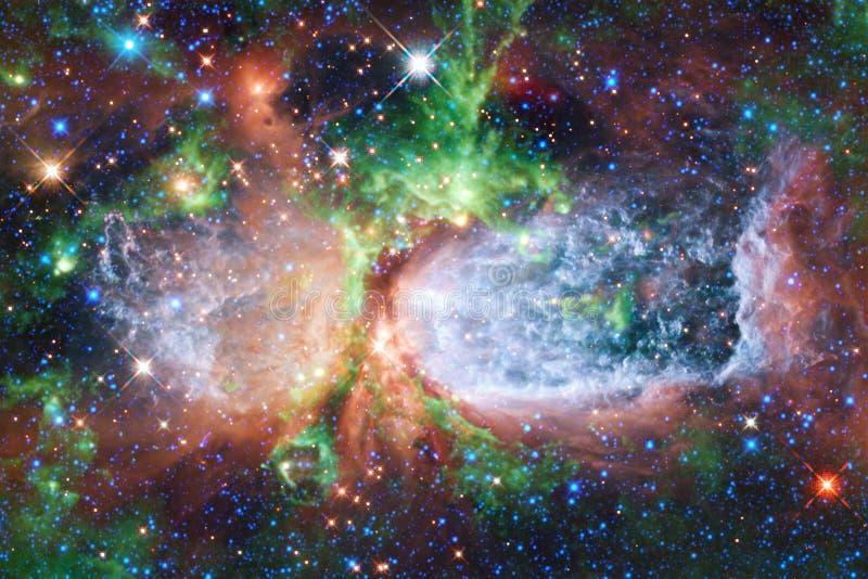 Ehrfürchtige Galaxie im Weltraum Starfields des endlosen Kosmos lizenzfreie stockfotos