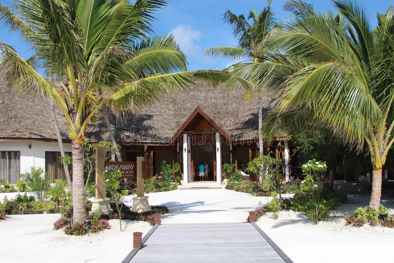 Ehrfürchtiger Erholungsort in Malediven stockbilder