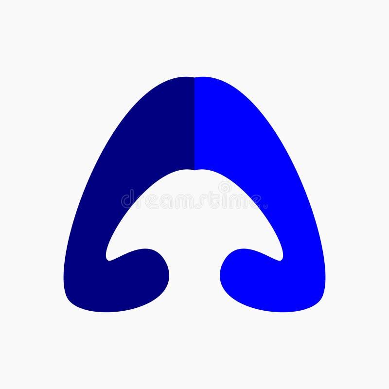 Ehrfürchtiger Logo Letter A, einfacher Buchstabe A, Logo Vector stock abbildung