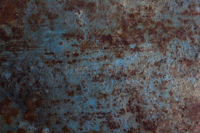 Ehrfürchtiges blaues Metall und Rost lizenzfreies stockfoto