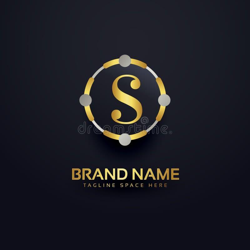 Ehrfürchtiges Logodesign des Buchstaben S stock abbildung
