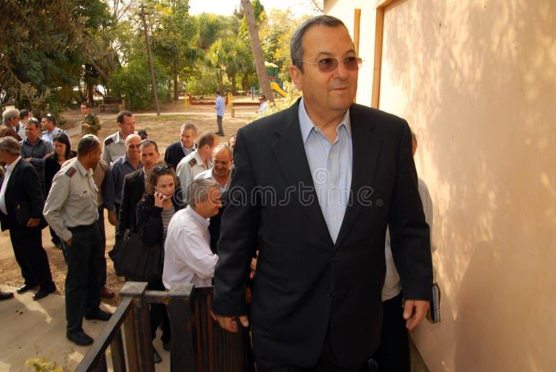 Ehud Barak imagen de archivo
