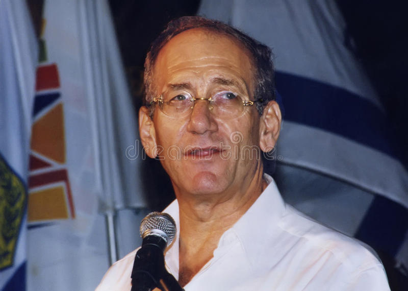 Ehud Olmert royalty-vrije stock fotografie