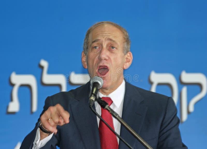 Ehud Olmert fotografia stock