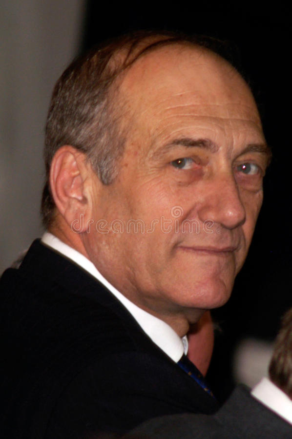 Ehud Olmert - 12o primeiro ministro de Israel imagens de stock royalty free