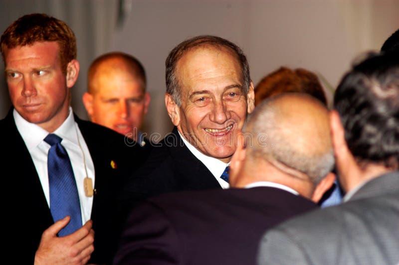 Ehud Olmert - 12th Pierwszorzędny minister Izrael fotografia royalty free