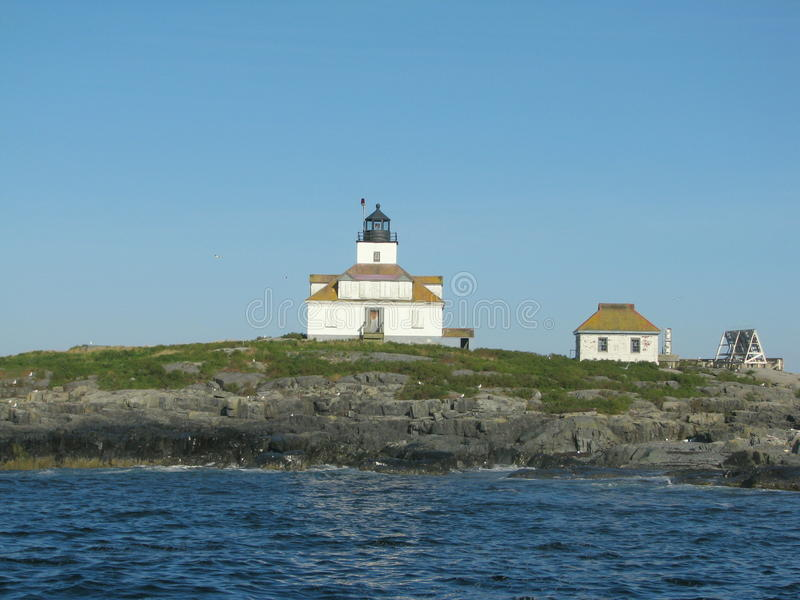 Ei-Felsen-Leuchtturm Maine, USA stockfotos