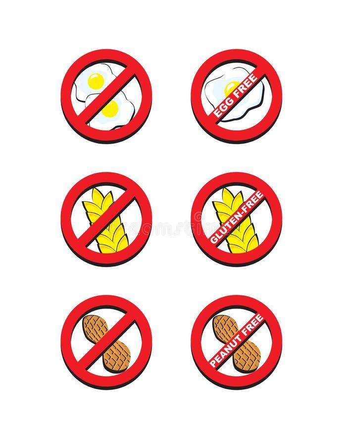 Ei-freies Gluten-freie Erdnuss geben frei stock abbildung