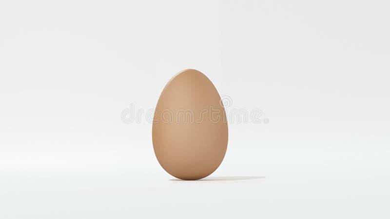 Ei op wit knipsel wordt geïsoleerd dat als achtergrond stock illustratie