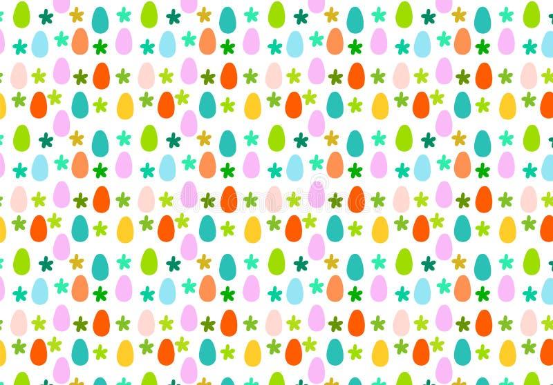 Ei- und Blumenostern-Handgezogener kreativer bunter Hintergrund vektor abbildung