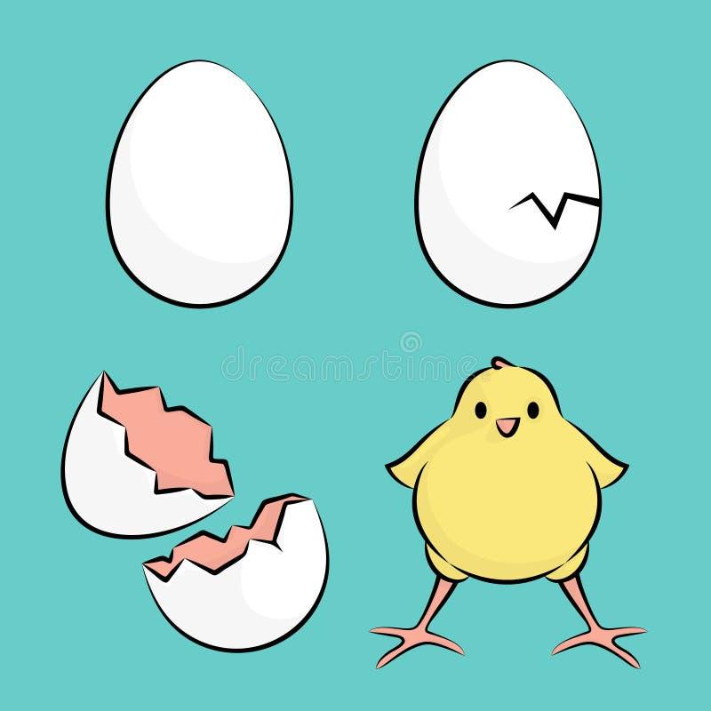 Ei und Huhn vektor abbildung