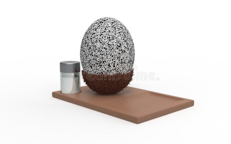 Ei und Salz seitlich stockbilder