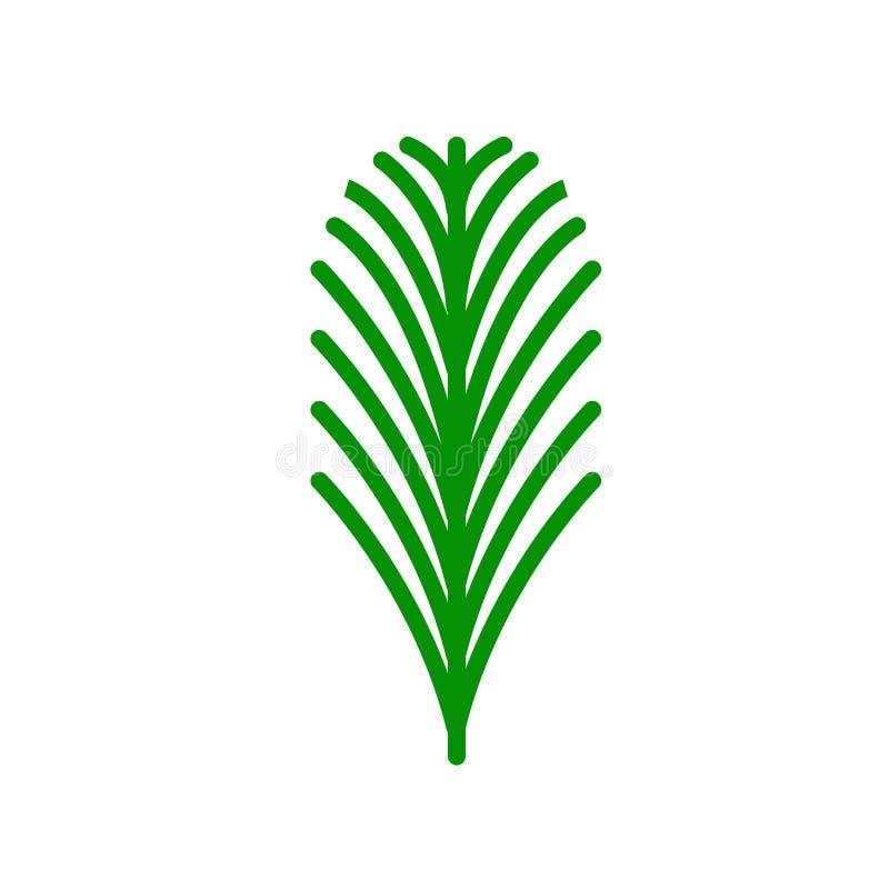 Eibenblattikonenvektorzeichen und -symbol lokalisiert auf weißem backgroun stock abbildung