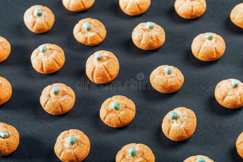 Eibische in Form eines Kürbises für den Feiertag Halloween stockbild