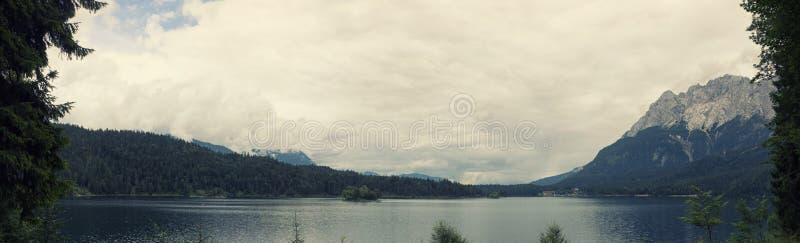 Eibsee, Deutschland stockbild