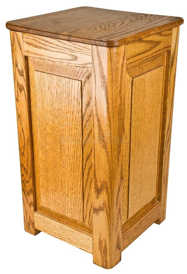 Eichen-Holz-Bedienpult-Enden-Tabelle stockfotos