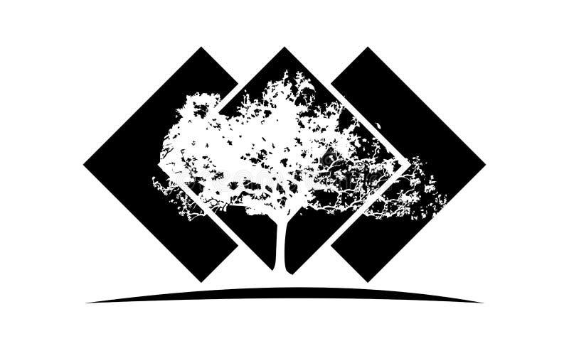 Eichen-Schablone lizenzfreie abbildung