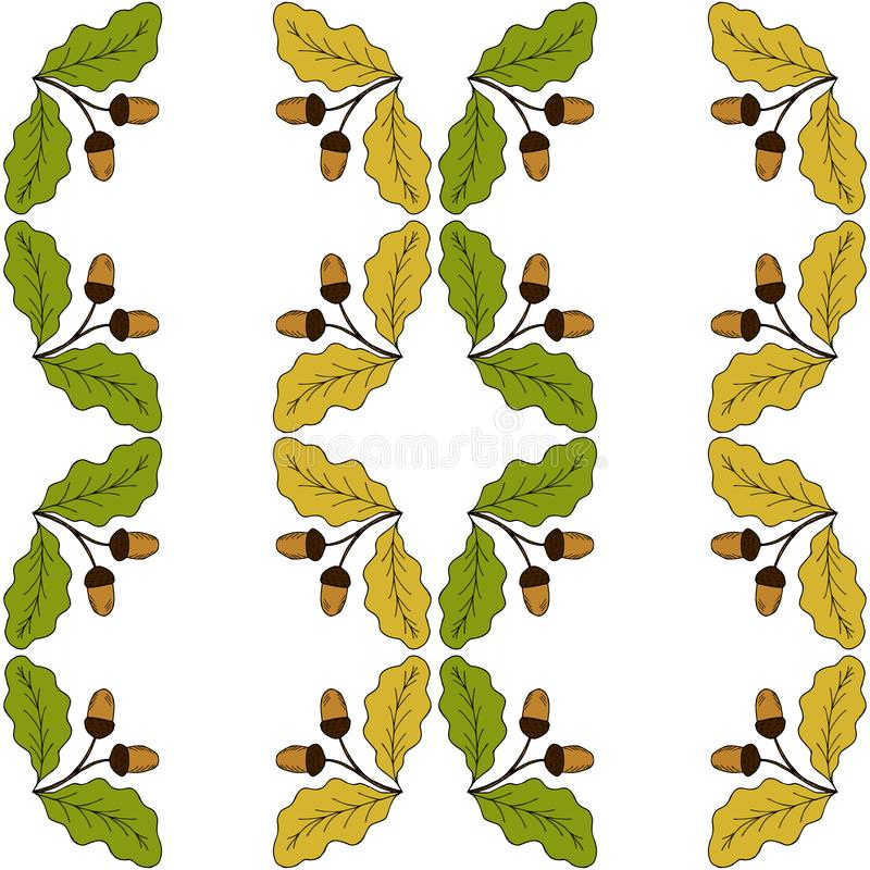 eichenblatt und eichel zwischenlage runder spant 2