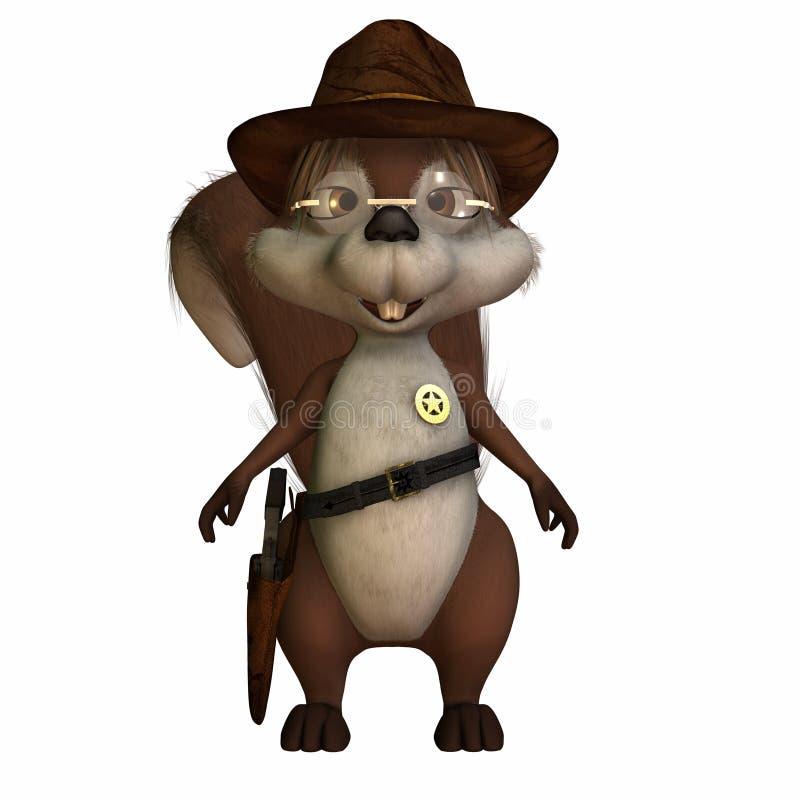 Eichhörnchen-Polizeichef vektor abbildung