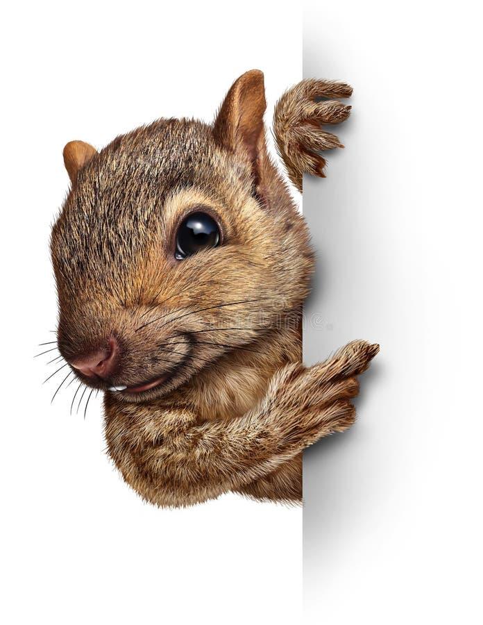 Eichhörnchen-Zeichen lizenzfreie abbildung