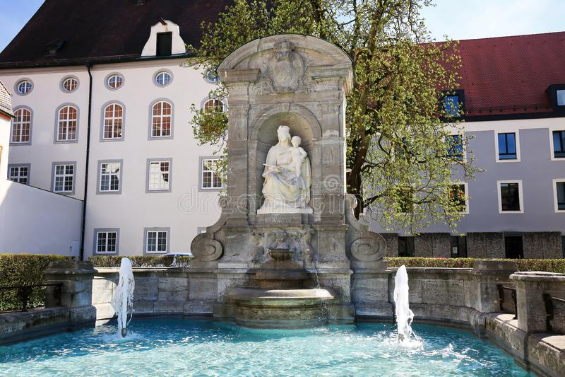 Eichstättis una città in Baviera, Germania fotografia stock