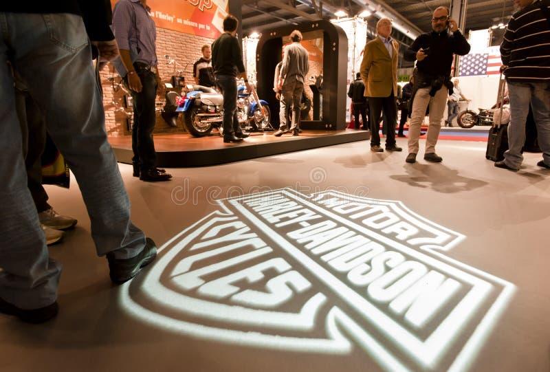 EICMA 2010 - Harley Davidson imagem de stock royalty free