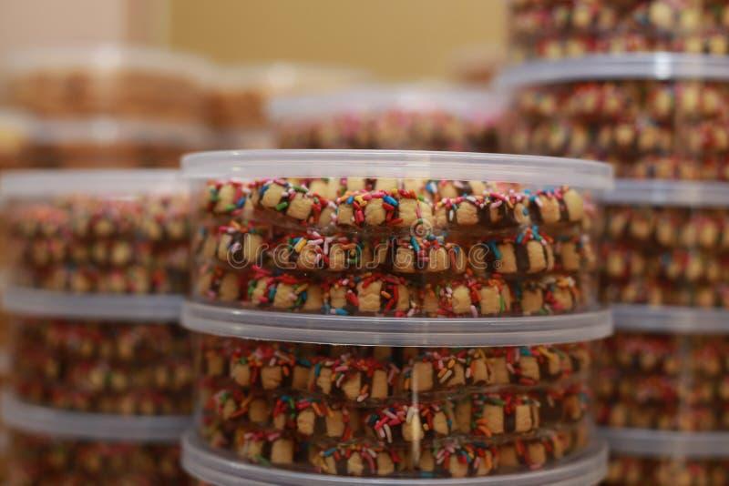 Eid的穆巴拉克曲奇饼 免版税库存照片