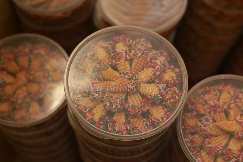 Eid的穆巴拉克曲奇饼 库存图片