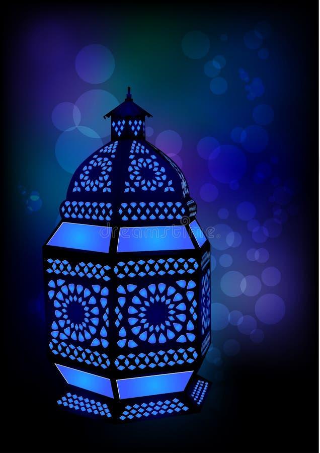 eid ισλαμικός λαμπτήρας ramadan διανυσματική απεικόνιση