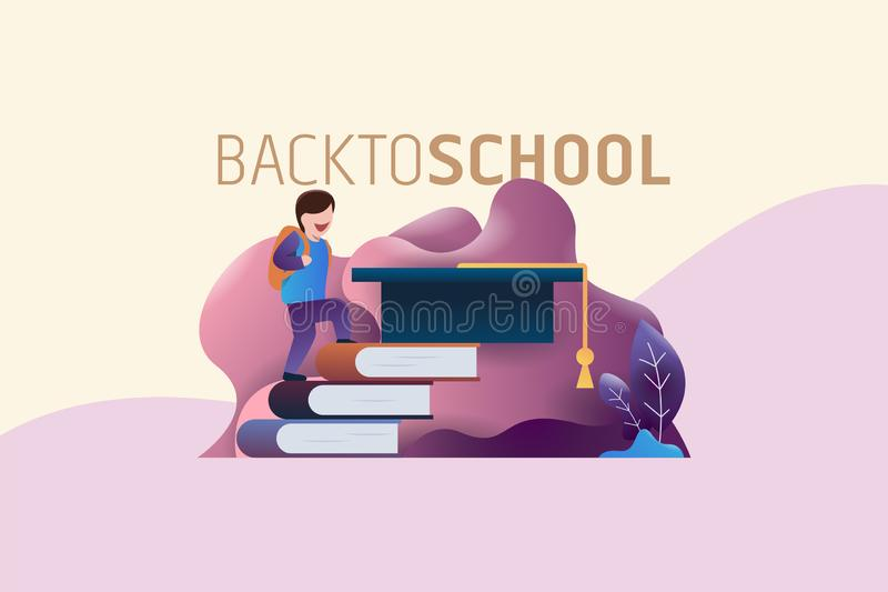 Back to school vector illustration royalty free illustration