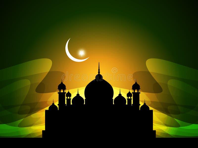 Eid abstrakcjonistyczny piękny religijny tło royalty ilustracja