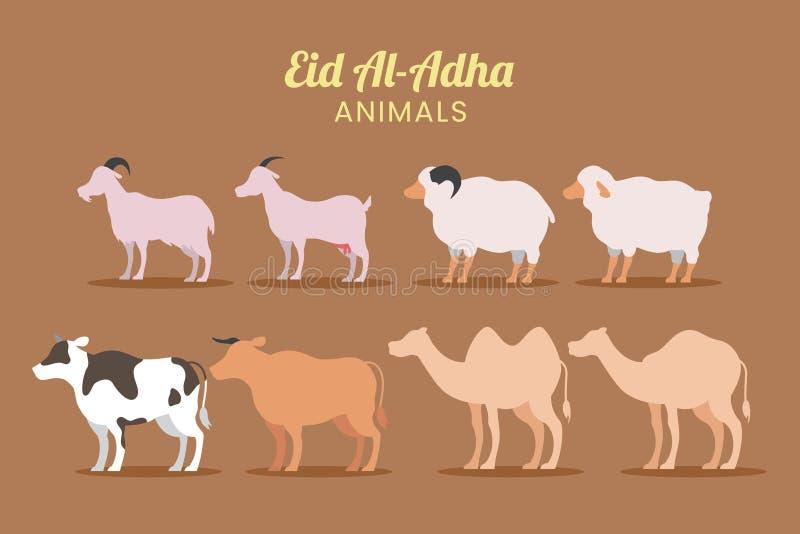 Eid Adha papieru rżnięty tło obraz stock