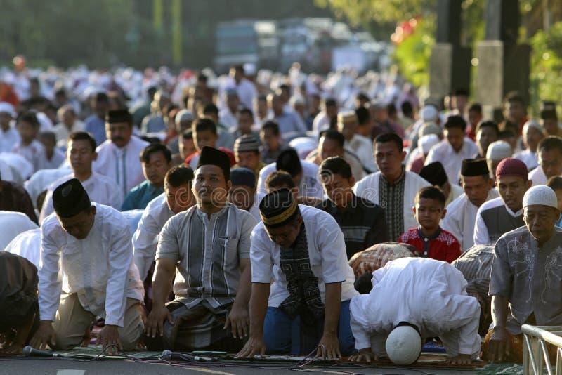 Eid Al Adha祷告 免版税图库摄影