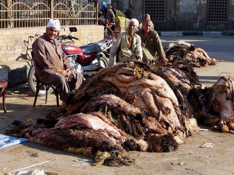 Eid al-Adha animal skins stock photo