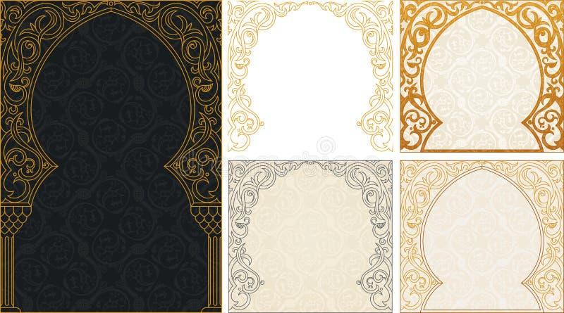 Eid al Adha greetings backgrounds set royalty free illustration