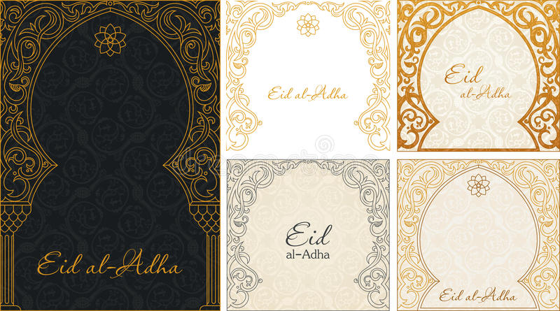 Eid al adha greetings backgrounds set stock vector illustration of download eid al adha greetings backgrounds set stock vector illustration of card arab m4hsunfo