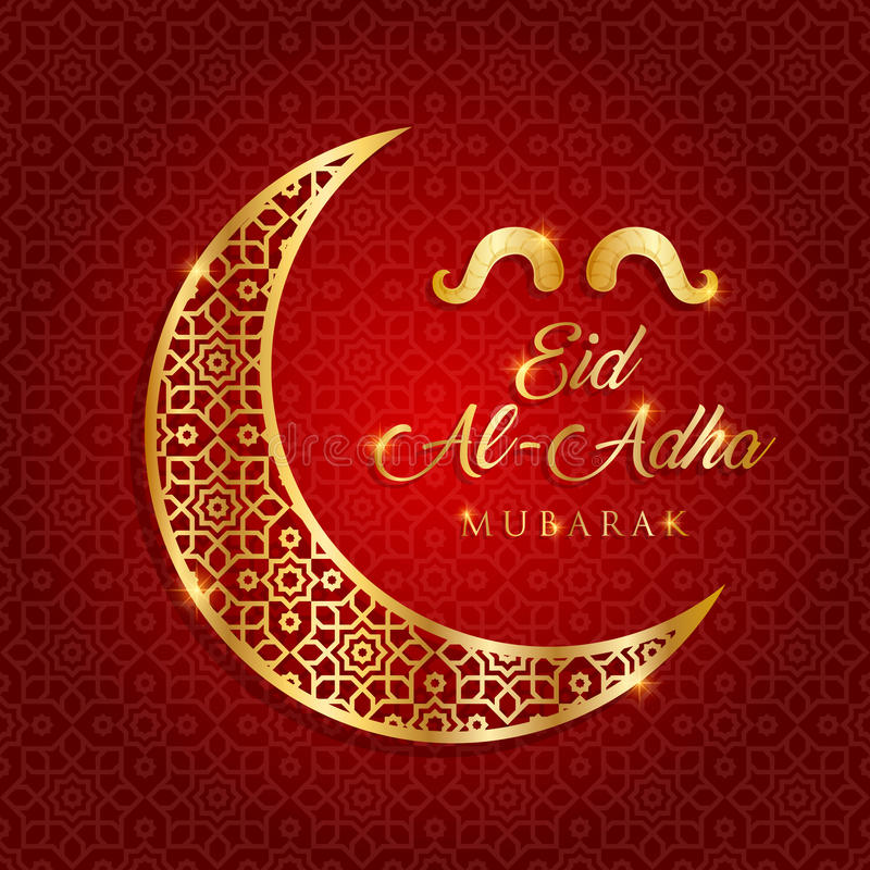 eid-al-adha mubarak vector illustration stock illustration