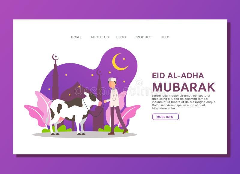 Eid al Adha lądowania strony pojęcie obraz stock