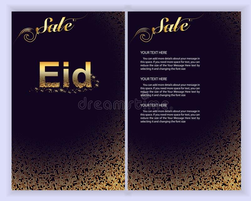 Eid Al Adha Mubarak la célébration de la communauté musulmane Carte de voeux d'Eid Al Adha Mubarak Illustration de vecteur illustration stock