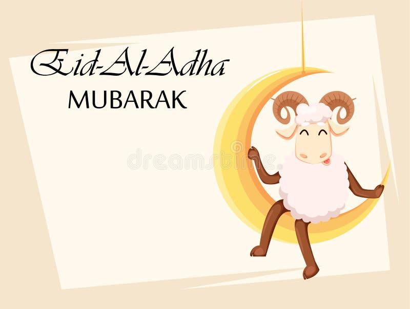 Eid al-Adha Mubarak Traditionell muslimsk ferie vektor illustrationer