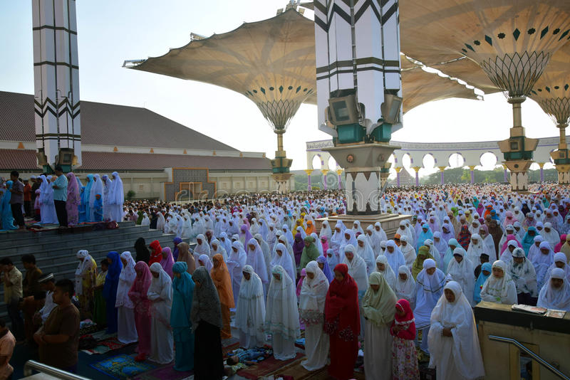 Eid Al-Adha Prayer royalty free stock photography