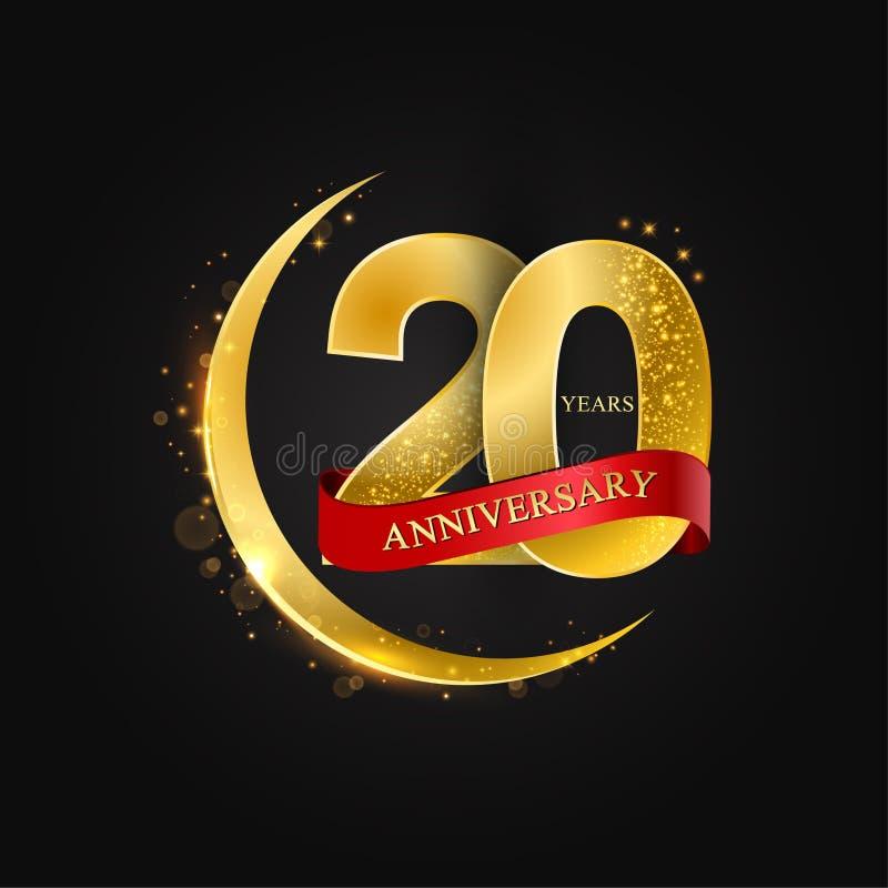 20th Anniversary Years Celebration Logotype . Logo Ribbon