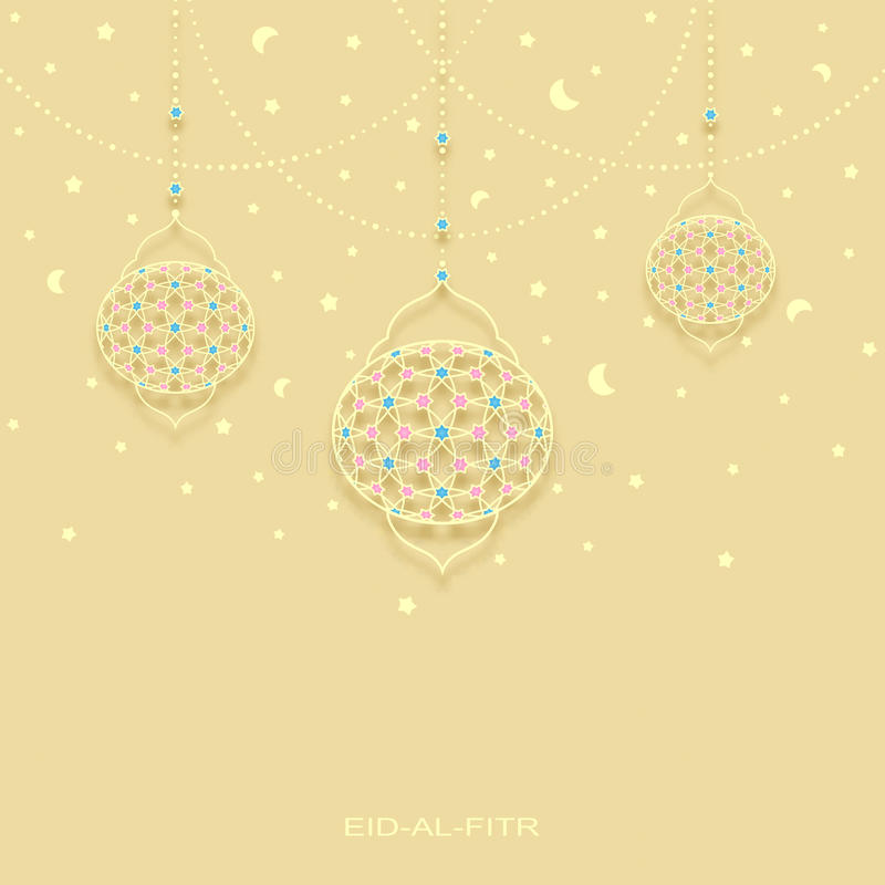 Great Board Eid Al-Fitr Decorations - eid-al-fitr-background-stars-moons-decorated-lamps-vector-73018121  Image_75528 .jpg