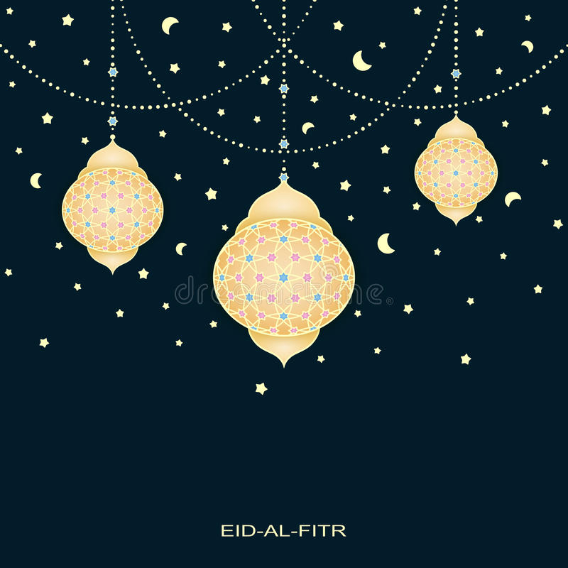 Great Board Eid Al-Fitr Decorations - eid-al-fitr-background-stars-moons-decorated-lamps-vector-73018126  Image_75528 .jpg